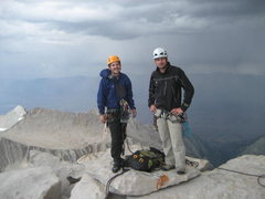Rock Climbing Photo: Scott and me on the summit after climbing the East...