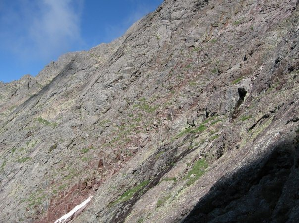 Rock Climbing Photo: Looking back at the easy first part of the travers...