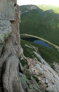 Rock Climbing Photo: A panoramic taken from the second to last belay, l...