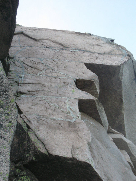 Rock Climbing Photo: Looking up and right from the second to last belay...
