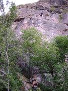 Rock Climbing Photo: Near the anchors on Ripple.