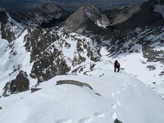 Rock Climbing Photo: Final steps up Blanca after a snowy traverse.  Pho...