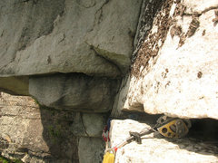 Rock Climbing Photo: Looking back in the handcrack traverse at the top ...