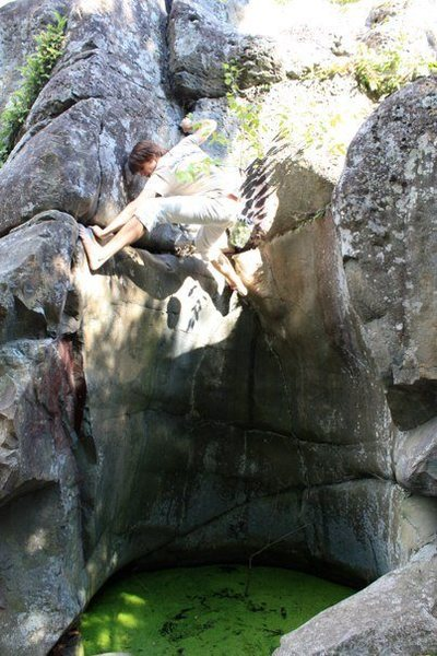 """Rock Climbing Photo: The """"crux"""" of primordial soup."""