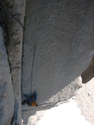 "Rock Climbing Photo: the ""scary"" pitch. Scott said he had off..."