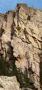 Rock Climbing Photo: Picture of rock that peeled from Rewritten on Augu...