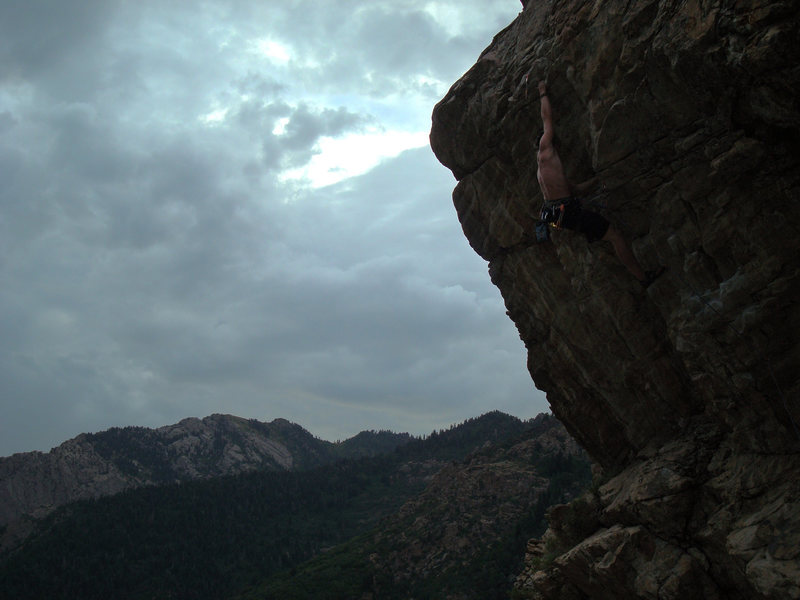 Clipping on the crux!
