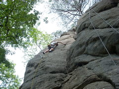 "Rock Climbing Photo: Leading ""Has Been""."