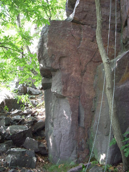 "Rock Climbing Photo: Boulder problem to the left of ""Magic Mushroo..."