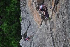 Rock Climbing Photo: Finishing up P2.