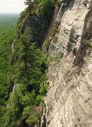 Rock Climbing Photo: Dave Morgan on P2.