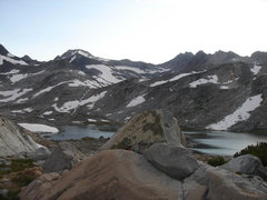 Rock Climbing Photo: The approach seen from camp at Lower Marie Lake. (...