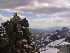 Rock Climbing Photo: Parker, Tony and Lluis on the summit of Mount Lyel...