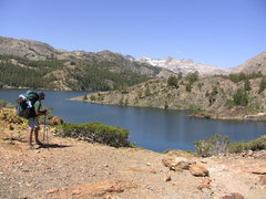 Rock Climbing Photo: Tony above the dam at Gem Lake.