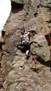 Rock Climbing Photo: Kim on churchill at the palace. Here first outdoor...