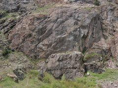 Rock Climbing Photo: The Stripe. Most of the routes are on the upper ti...