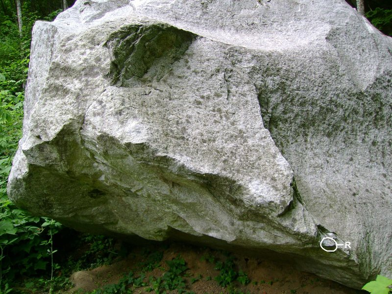 Rock Climbing Photo: Where the right hand goes.