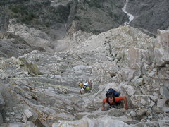 Rock Climbing Photo: Some of the less quality terrain found on the spir...