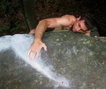 "Rock Climbing Photo: Aaron Parlier on the seam used to top out ""Se..."