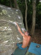 "Rock Climbing Photo: Steven Lovelace on ""Night Today"" (V-3),B..."