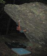 """Rock Climbing Photo: Steven Lovelace on """"Front Man"""" (V-4+) AV..."""