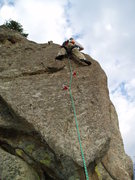 Rock Climbing Photo: Stepping up and left from here is way harder than ...