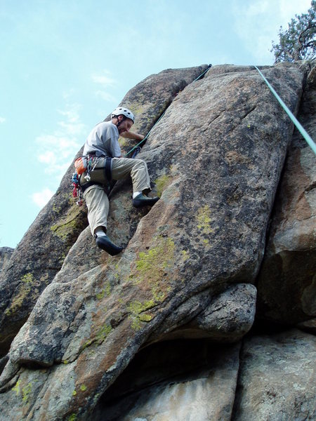 Rock Climbing Photo: Looks easy, doesn't it? The difficult in part depe...