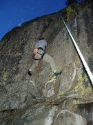 Rock Climbing Photo: Lenny likes to climb until dark, although he may n...