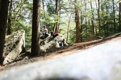 Rock Climbing Photo: Resting during a buggy but beautiful day at Boulde...