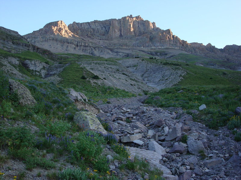 Rock Climbing Photo: Dallas Peak from Sneffels Highline Trail.