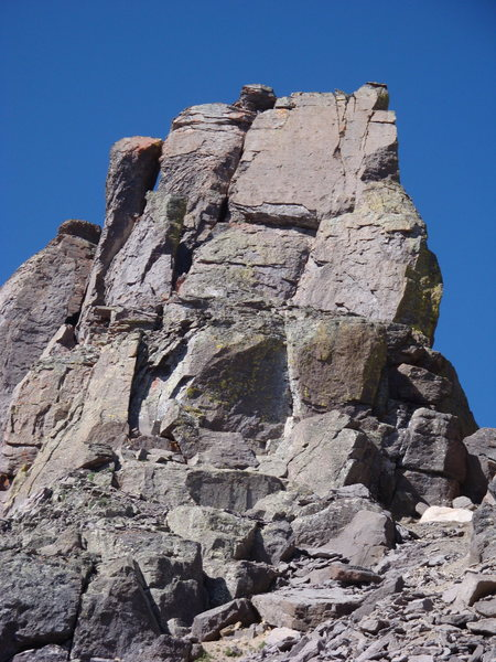 Rock Climbing Photo: South Face of Dallas Peak's summit block.