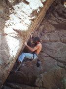 Rock Climbing Photo: Chris Jones @Tuck working on Mr. Spiffy circa 1980...