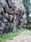 Rock Climbing Photo: Difficult to moderate bouldering on the secluded s...