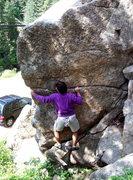 Rock Climbing Photo: Sugary, Sugarloaf Block, Boulder Canyon.