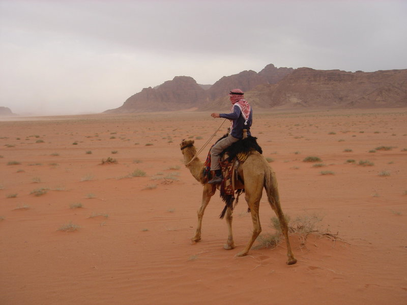 Riding out into Wadi Rum...