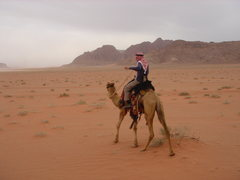 Rock Climbing Photo: Riding out into Wadi Rum...