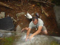 Rock Climbing Photo: The crux-ish