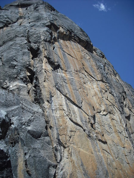 Rock Climbing Photo: Line on the left that goes out the roof is Like a ...