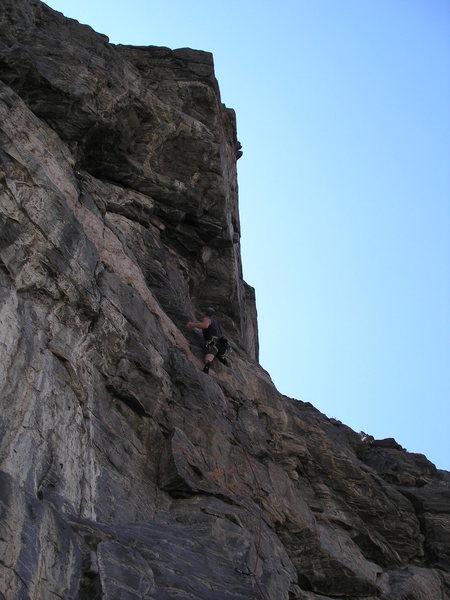 Rock Climbing Photo: Aaron heading up River Jam.