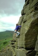 Rock Climbing Photo: Moving on past the crux on Fern Groove.