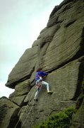 Rock Climbing Photo: Below the crux moves on Fern Groove.