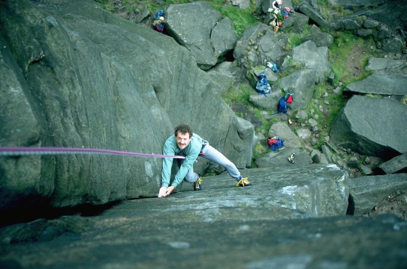 Rock Climbing Photo: Nick follows up Goliath's Groove.