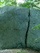 Rock Climbing Photo: The obvious crack line visible from the white trai...