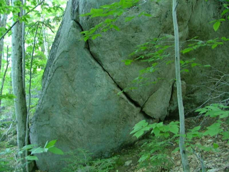 Rock Climbing Photo: the wrap around crack from a better view point
