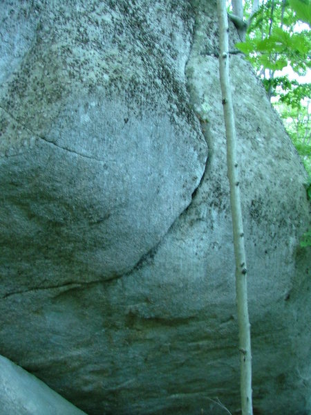 Rock Climbing Photo: Another crack to the right of the previous promine...