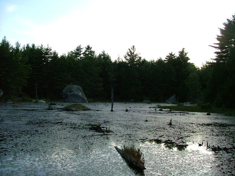 Rock Climbing Photo: View of Magic Pond from the cluster of boulders on...