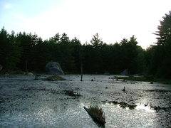 View of Magic Pond from the cluster of boulders on the edge of the water.