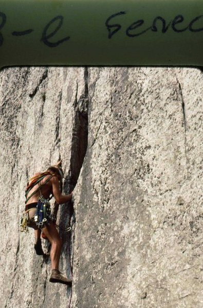 Rock Climbing Photo: Castor or Pollux -I forget- Seneca 1976