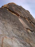 Rock Climbing Photo: The 3rd class ledge system is clearly visible at t...