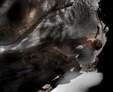 "Rock Climbing Photo: Jason Baker on his own ""Turbo Muhlet."""